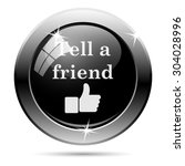 tell a friend icon. internet... | Shutterstock .eps vector #304028996