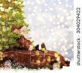 christmas toy santa claus  | Shutterstock . vector #304029422