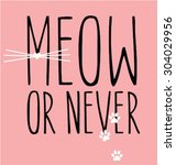 cat graphic for t shirt   Shutterstock .eps vector #304029956