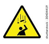 falling debris hazard sign | Shutterstock . vector #30404419