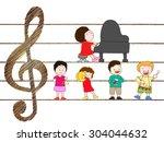 pleasant music presentation of...   Shutterstock .eps vector #304044632