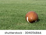 football to the right with... | Shutterstock . vector #304056866