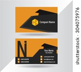 business cards template with... | Shutterstock .eps vector #304075976