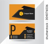 business cards template with... | Shutterstock .eps vector #304076036