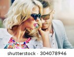 Happy Fashionable Couple In Th...