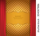 night entertainment stage | Shutterstock .eps vector #304087886
