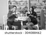 black and white. bw. family...   Shutterstock . vector #304088462