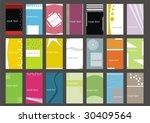 business cards  set 4  | Shutterstock .eps vector #30409564