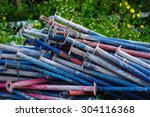 scrap left over from the... | Shutterstock . vector #304116368