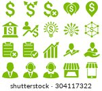 trade business and bank service ... | Shutterstock .eps vector #304117322