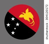 papua new guinea circle flag  ... | Shutterstock .eps vector #304120172
