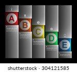 infographic design element ... | Shutterstock .eps vector #304121585