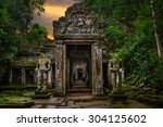 entering into the ancient... | Shutterstock . vector #304125602