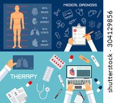 medical diagnosis and therapy...   Shutterstock .eps vector #304129856