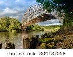 wylam railway bridge crosses... | Shutterstock . vector #304135058