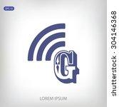 letter g  icon  | Shutterstock .eps vector #304146368