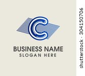moder alphabetical logo design... | Shutterstock .eps vector #304150706