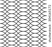 vector seamless pattern. modern ... | Shutterstock .eps vector #304165172