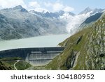 View Of The Grimsel Lake Dam...