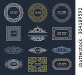 set luxury logos template... | Shutterstock .eps vector #304189592