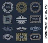 set luxury logos template... | Shutterstock .eps vector #304189592