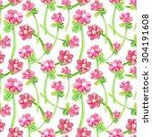 pink flowers. balloons ... | Shutterstock . vector #304191608