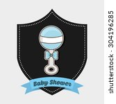 baby shower design  vector... | Shutterstock .eps vector #304196285