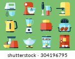 vector collection of kitchen... | Shutterstock .eps vector #304196795