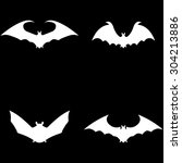 bat icons | Shutterstock .eps vector #304213886