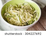 natural food  raw zucchini... | Shutterstock . vector #304227692
