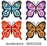 butterfly | Shutterstock .eps vector #30423103