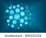 big data analytics background... | Shutterstock .eps vector #304231226