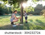 mother and toddler playing the... | Shutterstock . vector #304232726