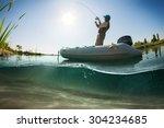 Fisherman  Underwater View