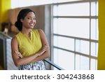 portrait of a confident... | Shutterstock . vector #304243868