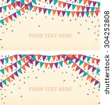 two horizontal banners with... | Shutterstock .eps vector #304252808