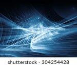 light waves series. design made ... | Shutterstock . vector #304254428