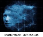 mind grid series. artistic... | Shutterstock . vector #304255835