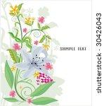 garden flowers   Shutterstock .eps vector #30426043