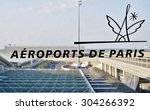 Small photo of ROISSY, FRANCE -9 JUNE 2015- The Aeroports de Paris (ADP) logo at the Roissy Charles de Gaulle international airport (CDG) outside of Paris.