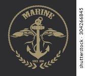 anchor logo | Shutterstock .eps vector #304266845