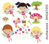 cute fairy vector illustration   Shutterstock .eps vector #304267355