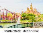 singapore   july 20  tourists... | Shutterstock . vector #304270652
