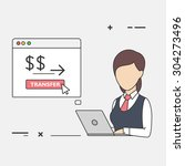 vector flat illustration of... | Shutterstock .eps vector #304273496