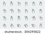vector touch screen gestures... | Shutterstock .eps vector #304295822