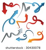 3d arrow set   vector | Shutterstock .eps vector #30430078