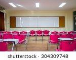 standard classroom interior... | Shutterstock . vector #304309748