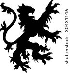 heraldic lion silhouette   Shutterstock .eps vector #30431146