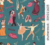 Seamless Pattern Of The Dancing ...