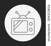 tv video line icon | Shutterstock .eps vector #304313816